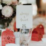 Wedding table flowers