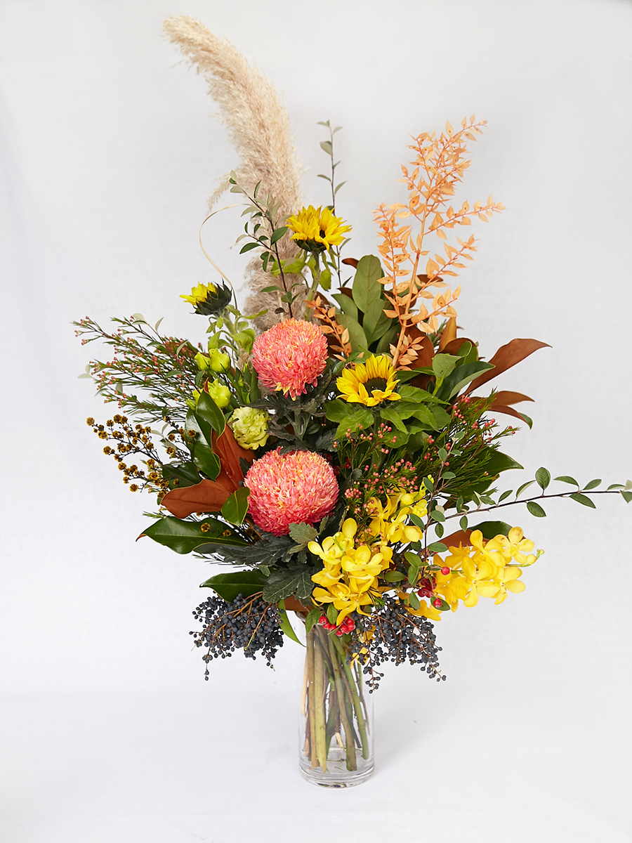 Colourful corporate flowers