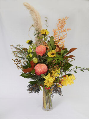 Corporate flowers bright and bold