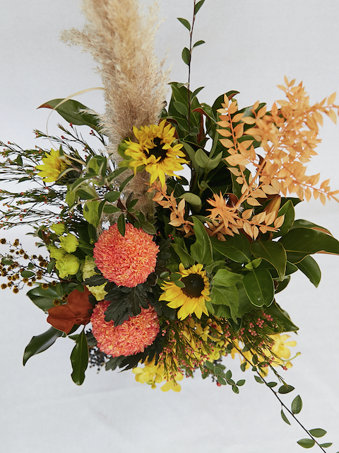 Reception corporate flowers