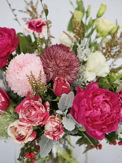 Pink flower arrangement in Berwick