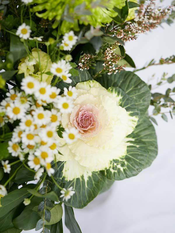 Sympathy flowers close up