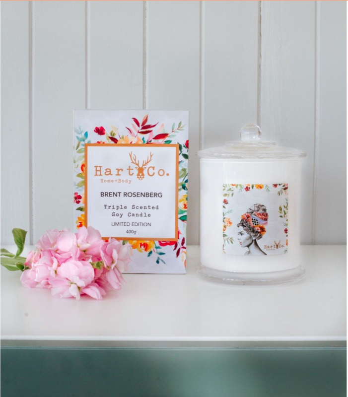 floral inspired candle