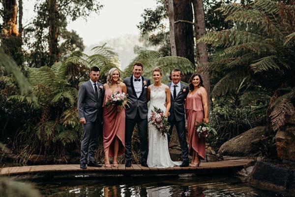 Bridal party wedding flowers